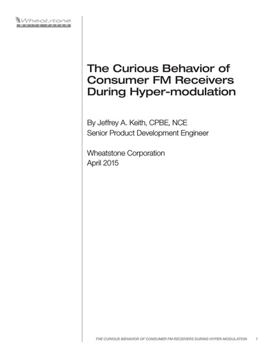 The Curious Behavior of Consumer FM Receivers During Hyper-modulation